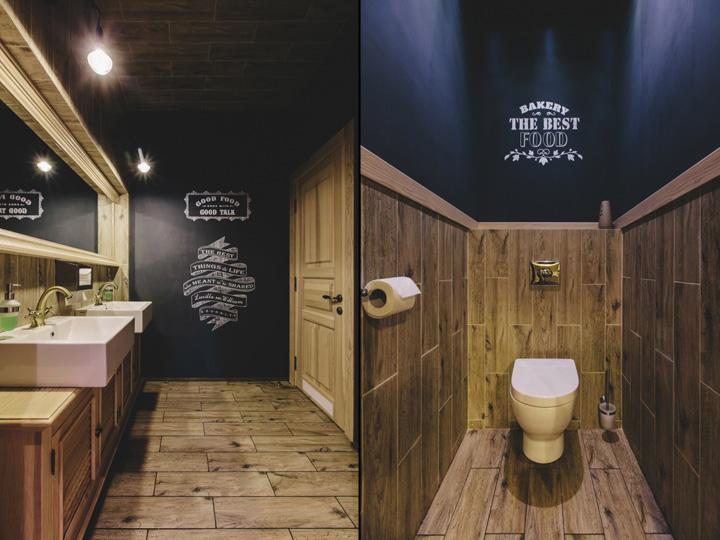 Restaurant Bathroom Interior : Bakary restaurant by yodezeen rivne ukraine retail