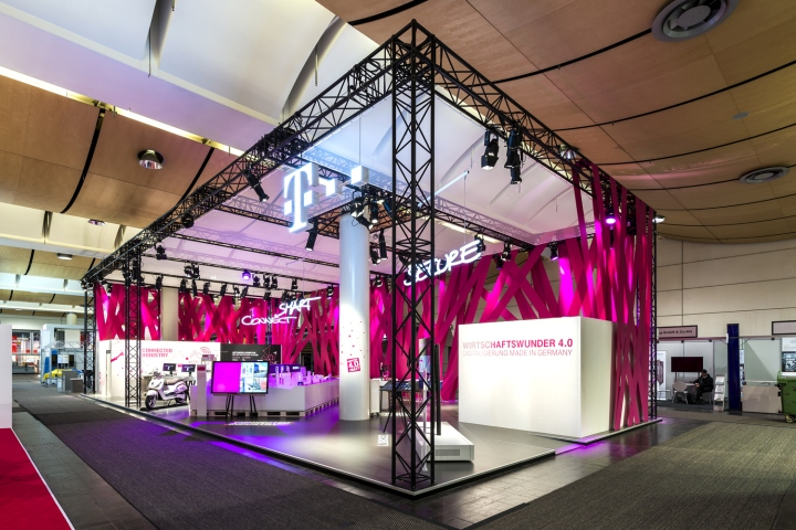 deutsche telekom trade fair stand at hannover messe 2015 by hartmannvonsiebenthal hannover. Black Bedroom Furniture Sets. Home Design Ideas