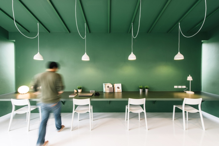Green 26 tv production office by anonym bangkok for Office design and productivity