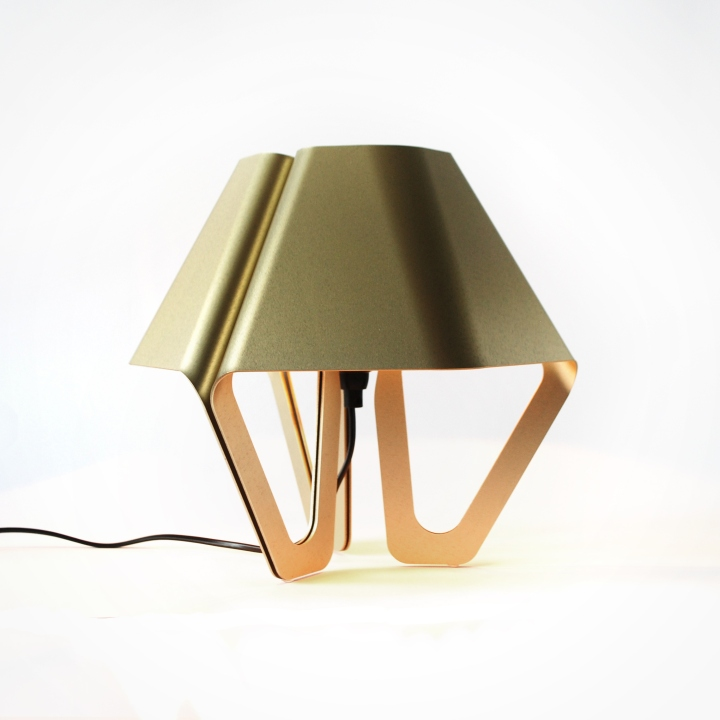 Hexa The Aluminum Table Lamp Is Completely Made In A Local Work Holland At First Cut From Sheet Of Metal After That