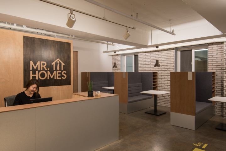 Mr homes real estate agency office by intu ne seoul for Real estate office interior design