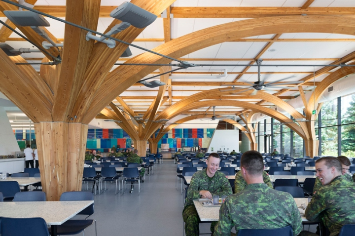 military dining hall by zas architects  u0026 jean