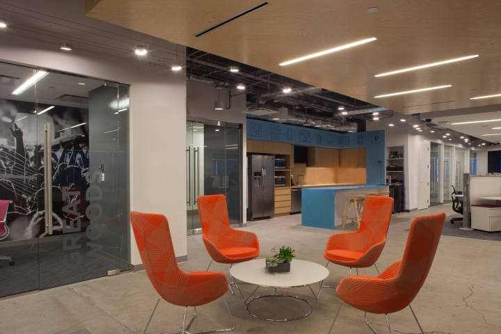 Fusion Design Consultants Designed The Offices Of Internet Radio Company Pandora Located In Boston Massachusetts We Provided Complete Services For