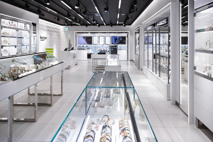 Boutique goldsmiths concept by green room uk retail for Green room retail design