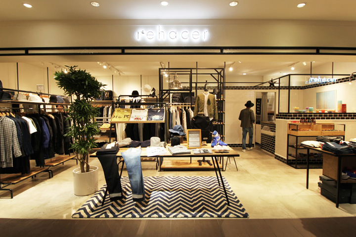 Rehacer store by curage design office osaka japan for Office design japan