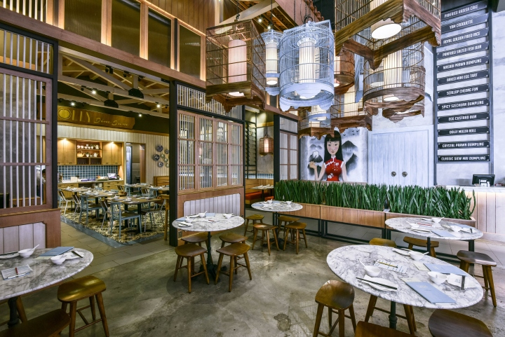 Dolly dimsum chinese restaurant by metaphor interior