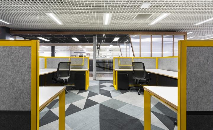 harris hmc offices by hot black interiors melbourne