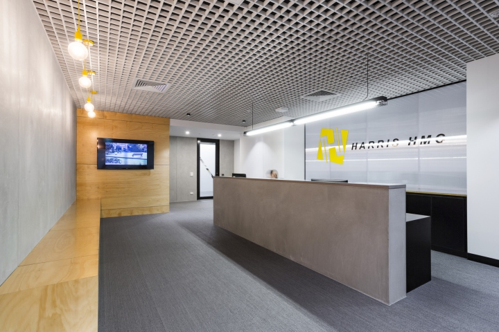 Hot Black Interiors Has Designed The New Offices Of Construction Company Harris HMC Located In Melbourne Australia Since Inception