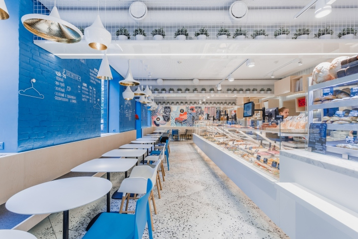 Karavaevi brothers cafe by v12 moscow russia retail for Design hotel chiemsee