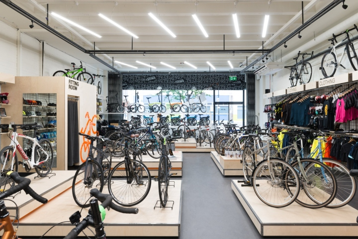 Bicycle retail design blog for Motorized bicycle repair shop