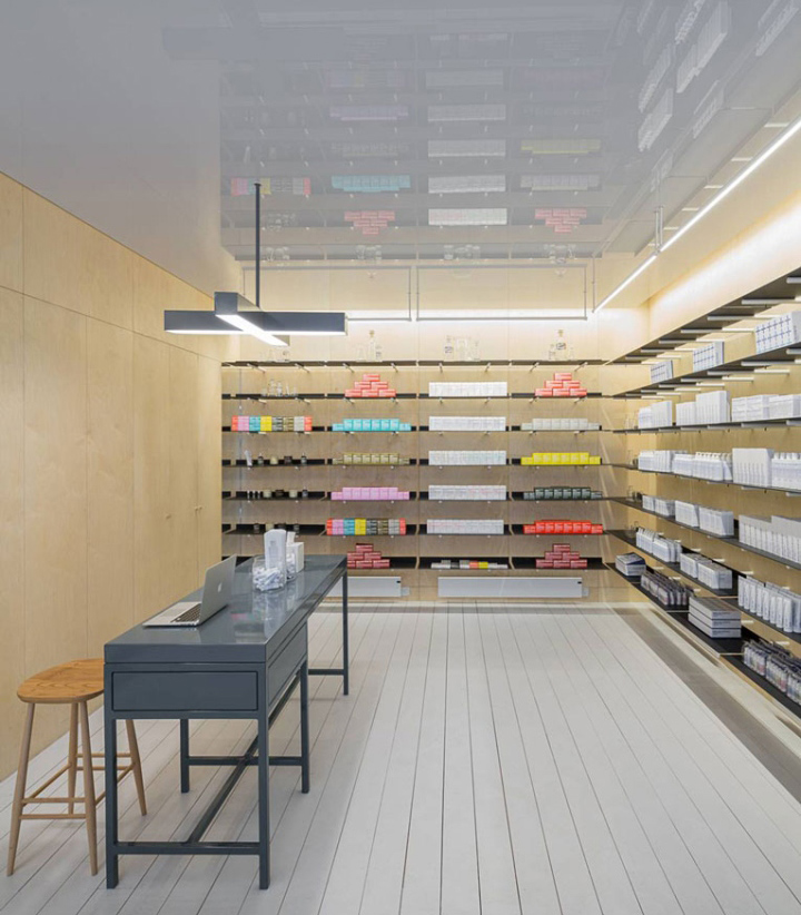 Malin goetz boutique by jonathan tuckey design london for Retail interior design agency london