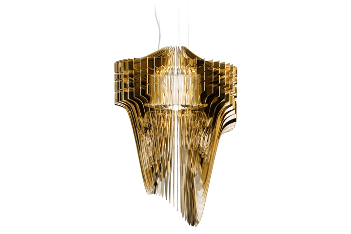 Aria gold chandelier by zaha hadid for slamp retail design blog used these words to encapsulate the empathetic and profound relationship that united slamp and zaha hadid along with her team since 2013 mozeypictures Choice Image
