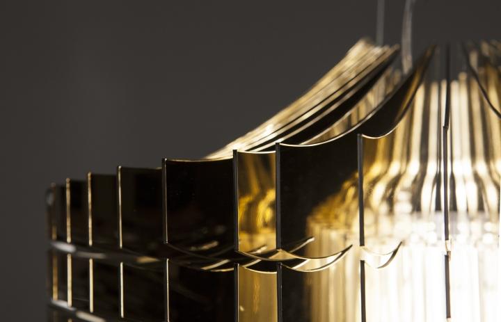 187 Aria Gold Chandelier By Zaha Hadid For Slamp
