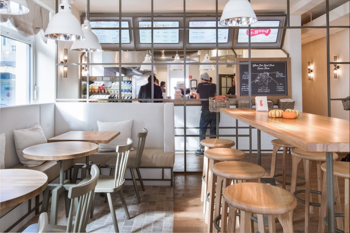 B good restaurant by dyer smith frey zurich for Kitchen design zurich