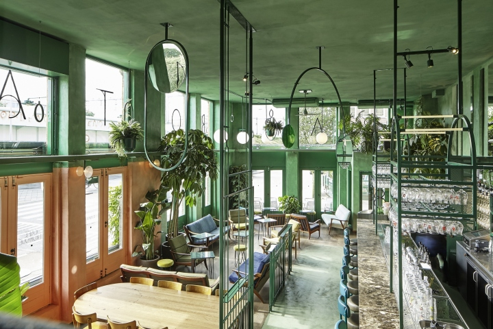 A Tropical Addition To The Restaurant Scene In Amsterdam East Bar Botanique Designed By Studio Modijefsky Brings Fresh And Green Interior Former