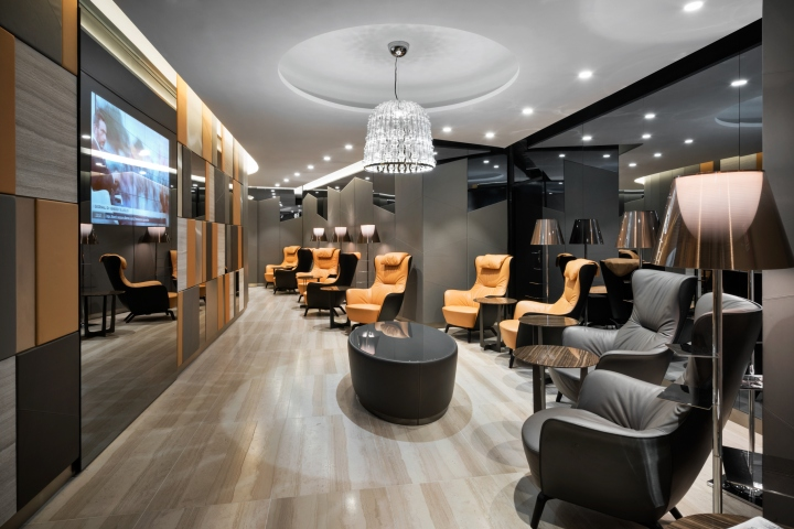Casa alitalia lounges by studio marco piva rome milan - Interior design roma ...