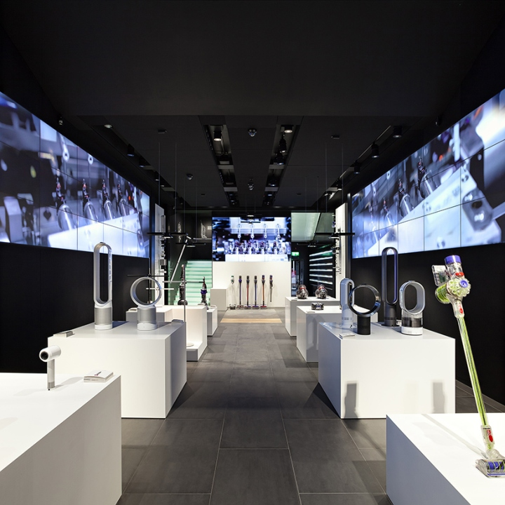 dyson demo store by wilkinson eyre dyson london uk retail design blog. Black Bedroom Furniture Sets. Home Design Ideas