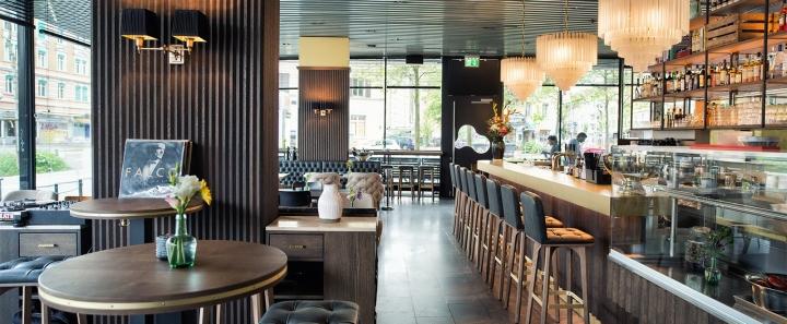 Grand caf lochergut by dyer smith frey zurich for Kitchen design zurich