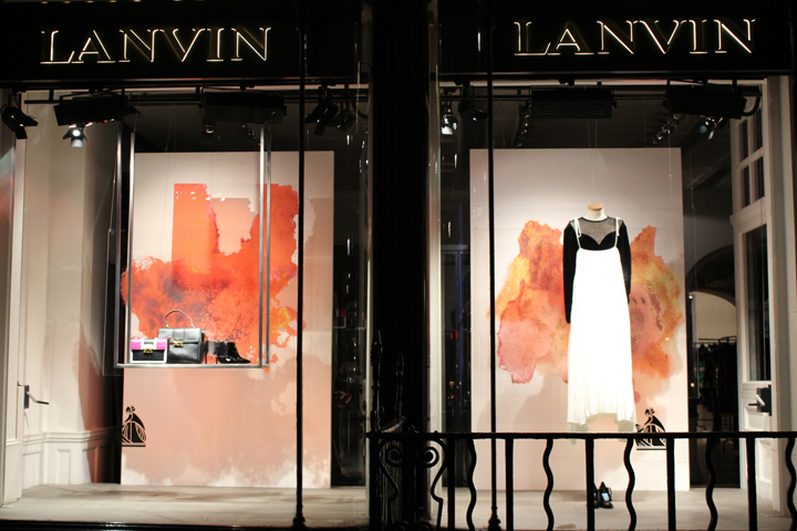 Lanvin retail design blog for 2016 window design