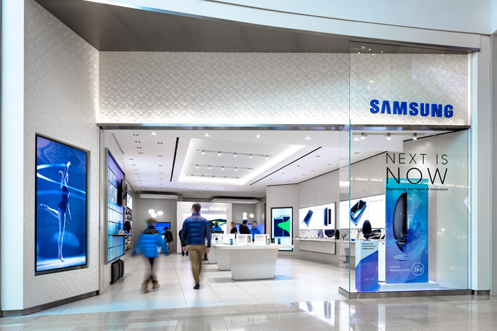 Samsung store at sherway gardens by cutler toronto for Furniture zone jamaica ny