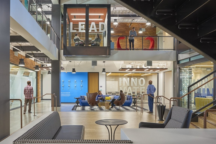 Ap i design has created the new offices of internet security company symantec located in mountain view california this project for symantec in mountain