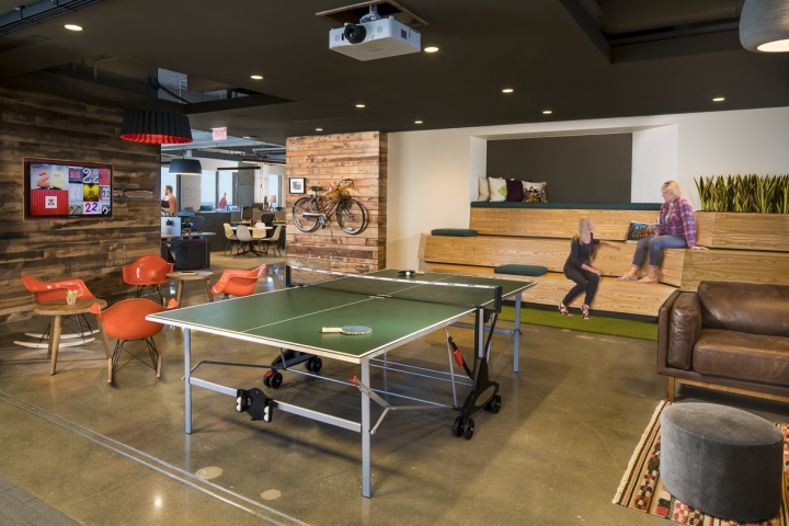 Natural Materials – The entire office is made with reclaimed wood, cigar  molds from Ybor City (Tampa's historic district that was founded by Cuban  cigar ... - 22squared's Office By Associated Space Design, Tampa €� Florida