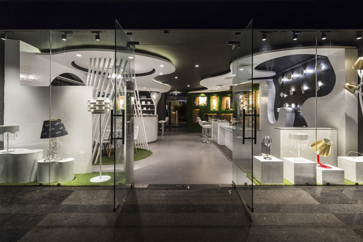 Disha electrical and lighting store by Studio Ardete, Chandigarh – India
