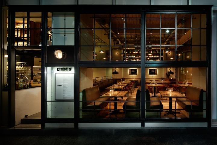Restaurante de estilo industrial en japón