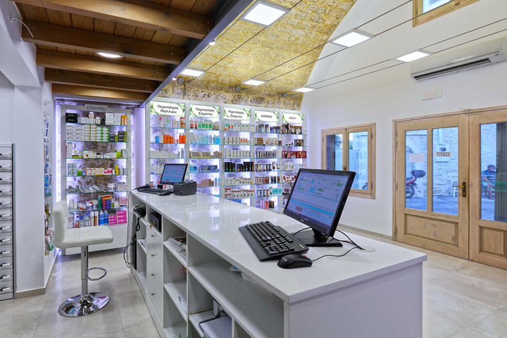 petropoulou agapi pharmacy by lefteris tsikandilakis gerani rethimno greece - Pharmacy Design Ideas