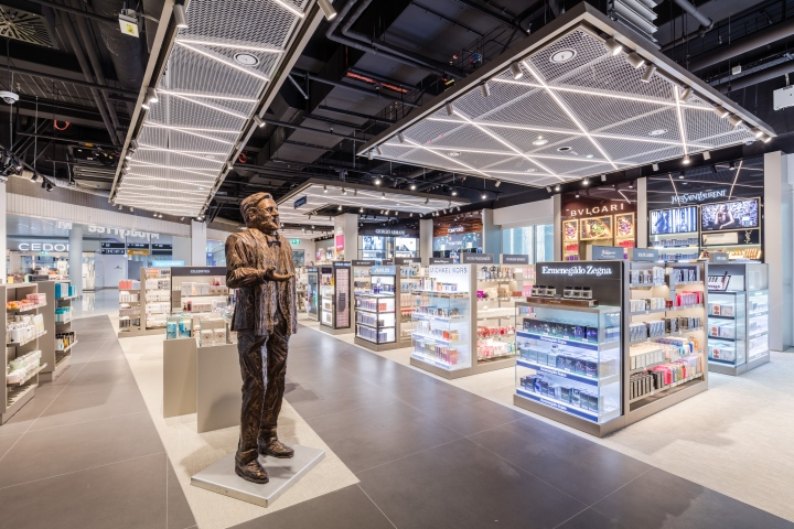 Terminal 2 duty free shop by gruschwitz umdasch for Retail store layout design free