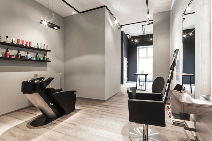 in dsseltal a residential area in dsseldorf germany bailas contemporary coiffure is a modern hair salon located within an old building that was - Salon Coiffure