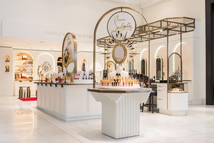 Christian louboutin beaute at selfridges by sheridan co for Retail design agency london