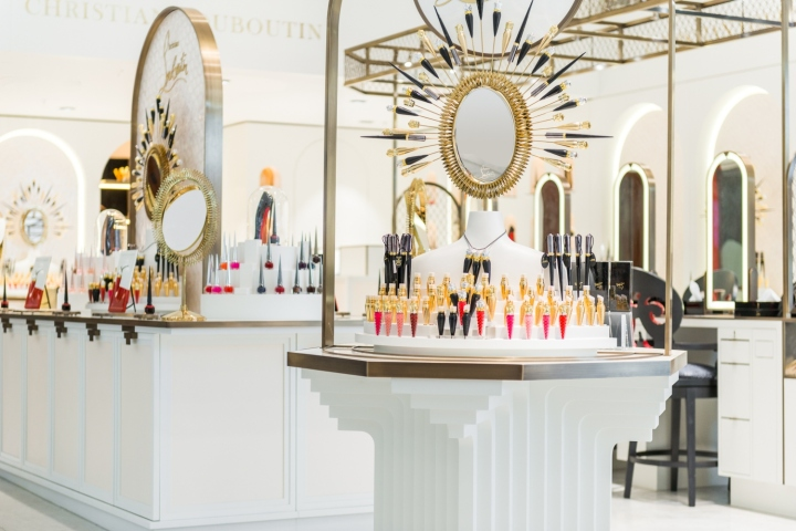 Christian louboutin beaute at selfridges by sheridan co for Retail interior design agency london