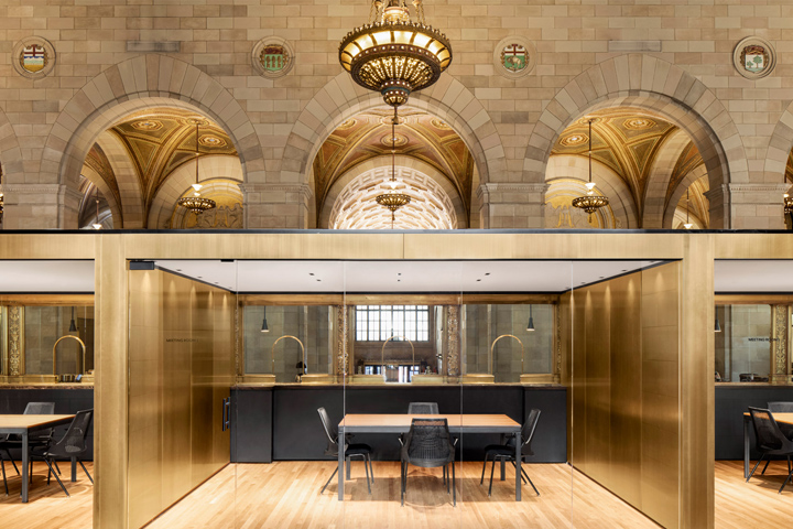 crew offices and cafe by henri cleinge montreal canada