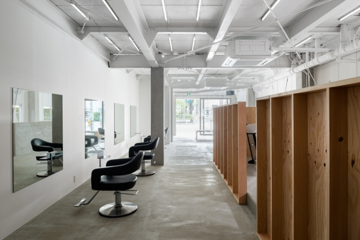 Used Salon Chairs >> » Hair salon & staff-curated library by Sides Core, Osaka – Japan