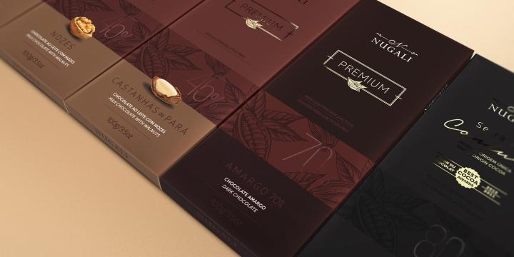 187 Nugali Premium Chocolate Bars By Fazdesign