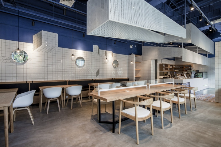 tiles metal meshes and plain cement are selected as the main materials by doing which control the cost the reception table made up by marble integrated