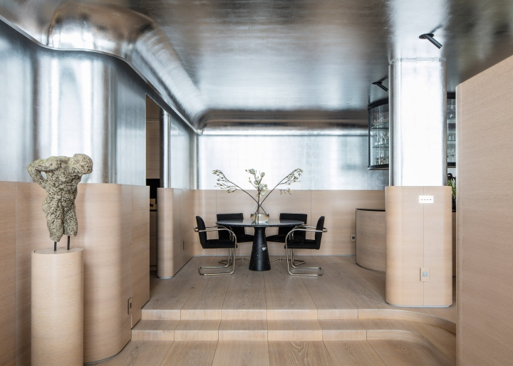 To Transform The One Bedroom Apartment Ghiora Aharoni Removed Partition Walls Create An Open Plan Space That Is Instead Divided Up With Built In