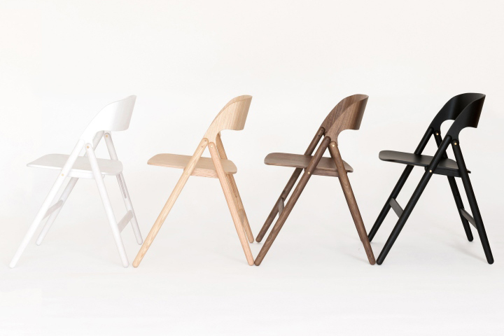 British Industrial Designer David Irwin Has Created A Space Saving Wooden  Chair For Case Furniture That Can Be Folded Up And Hung On A Wall.