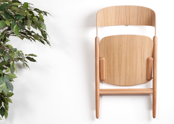 Wooden folding chair by David Irwin Retail Design Blog