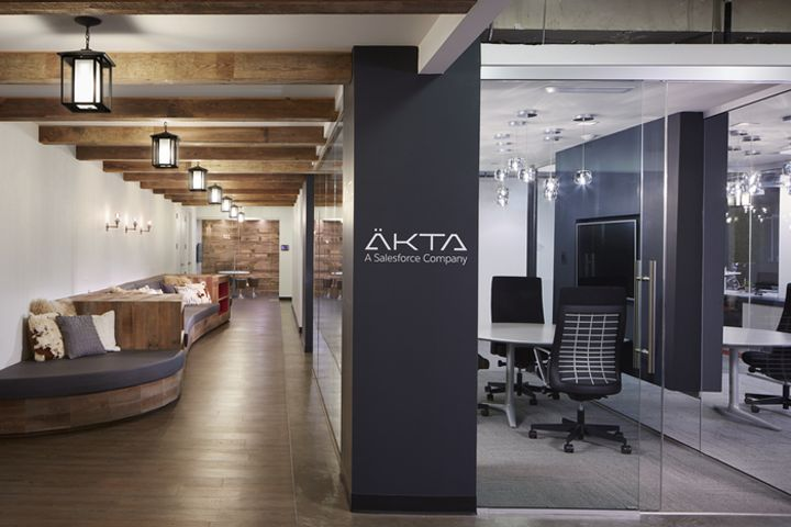 Horn Design Has Created The New Offices Of Digital Experience And Engagement Consultancy Äkta Located In Chicago Illinois As You Exit Elevator Cab