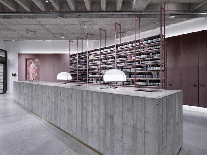 aesop store by einszu33 munich germany retail design blog. Black Bedroom Furniture Sets. Home Design Ideas