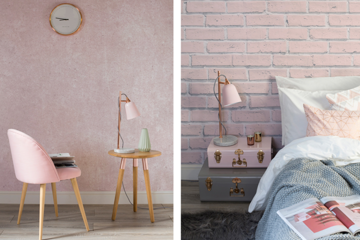 Blush Pink Collection By Murals Wallpaper