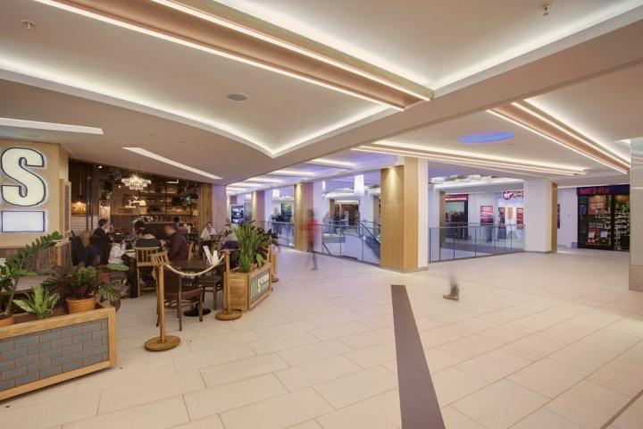 Intu victoria centre lighting by hoare lea