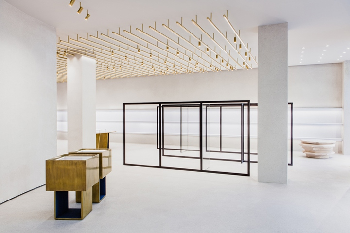 jil sander store renewal by andrea tognan architecture berlin germany retail design blog. Black Bedroom Furniture Sets. Home Design Ideas