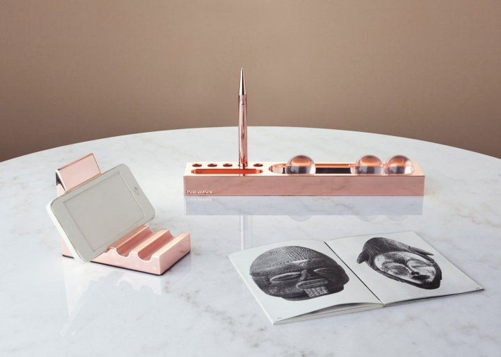 Http://www.dezeen.com/2016/10/06/tom Dixon Design First Office Furniture  Boom Light Slab Desk Accessories/