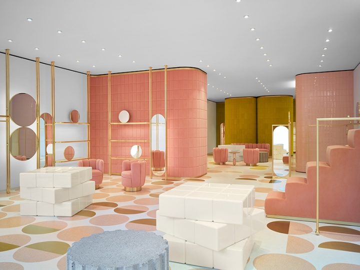 redvalentino flagship store by india mahdavi pierpaolo. Black Bedroom Furniture Sets. Home Design Ideas