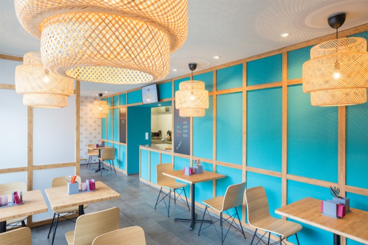 The lychee take away restaurant by barmade interior design