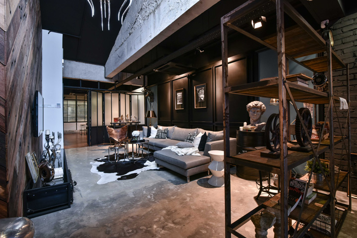 concrete floors are dressed with elaborate furnishings and plenty of industrial elements such as metal and brick creating a chic yet classy feel - Malaysia Interior Design Blog