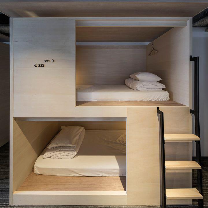 187 Unplan Hostel By Aida Atelier Tokyo Japan